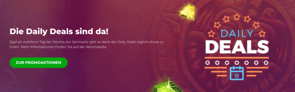 Spintastic Casino Daily Deals