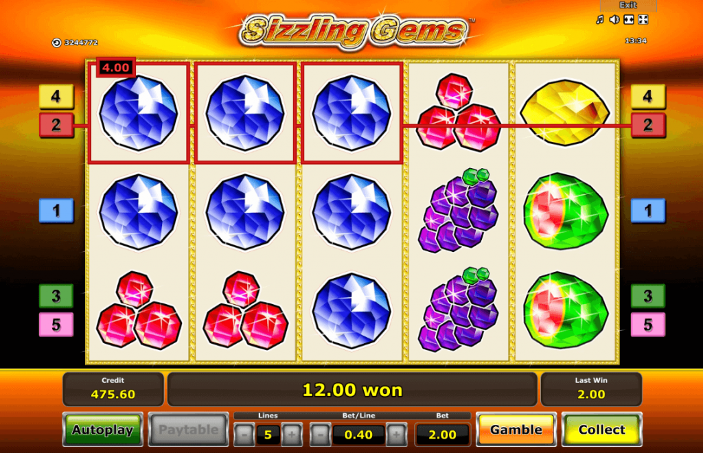 Play Sizzling Gems for free Online | OVO Casino