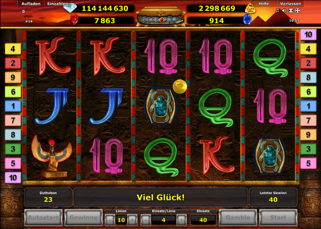 Book of Ra Deluxe Jackpot Edition - Spielfeld