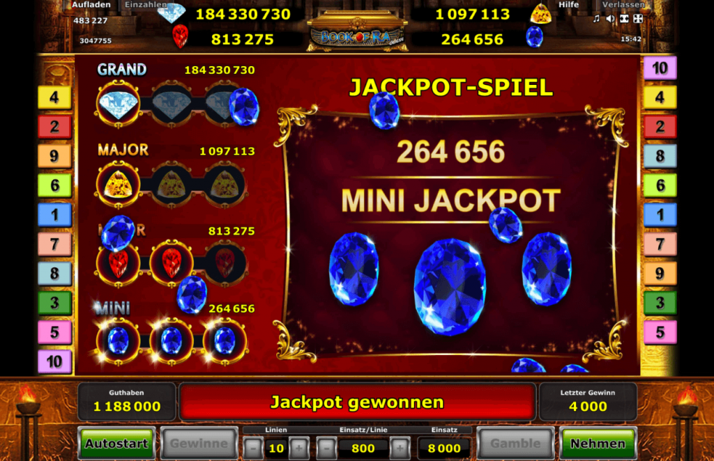 Book of Ra Jackpot Edition - Kleiner Jackpot