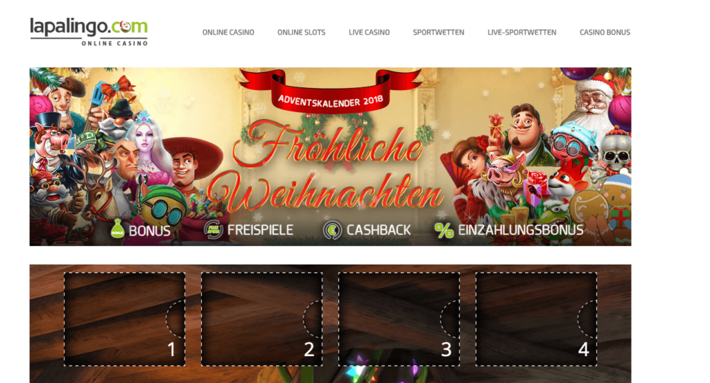 Lapalingo Casino Adventskalender