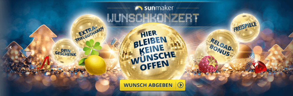 Sunmaker Casino Adventskalender 2019